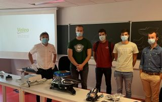 VALEO Eric Chatel with ELS students